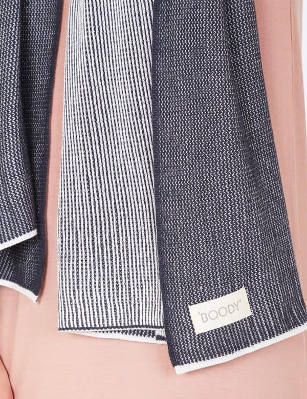 Cosy Knit Wrap Charcoal Detailed 3