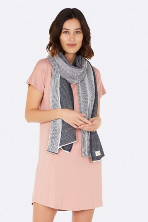 Cosy Knit Wrap Charcoal Front 2